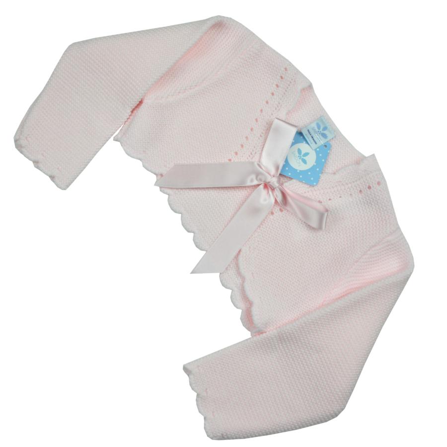 GARCIA rózsaszín kötött boleró - elöl masnis