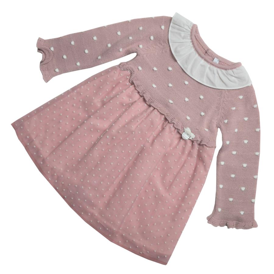 Lolita rózsaszín kötött felsőrészű egyedi ruha