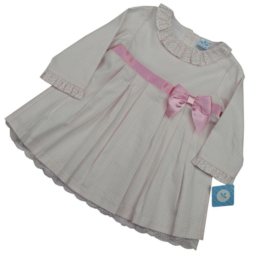 CLARA rózsaszin masnis ruha