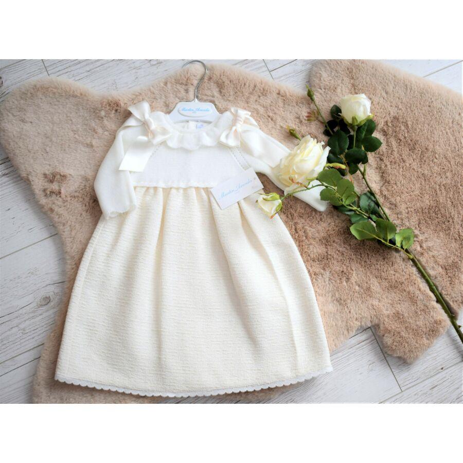 Kötött felsőrészű, keresztelő kislány ruha