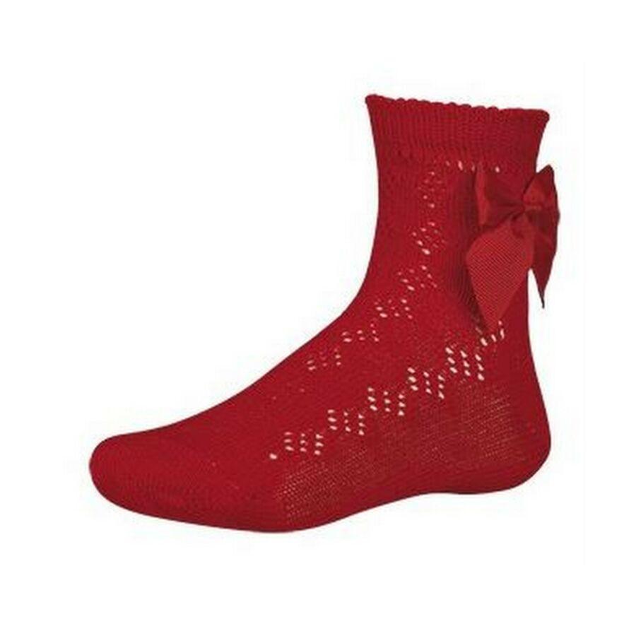 Festiva piros masnis lány zokni