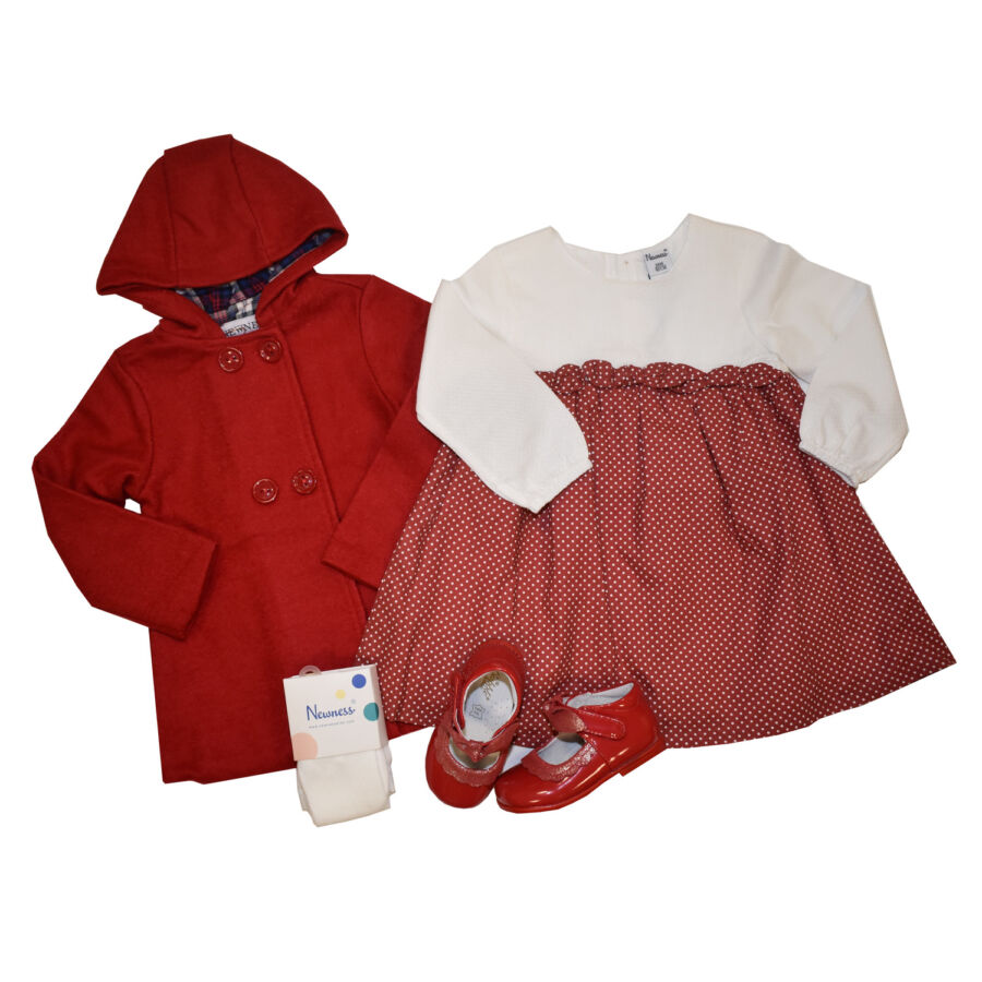Benicia piros átmeneti gyapjú lány kabát Kabát