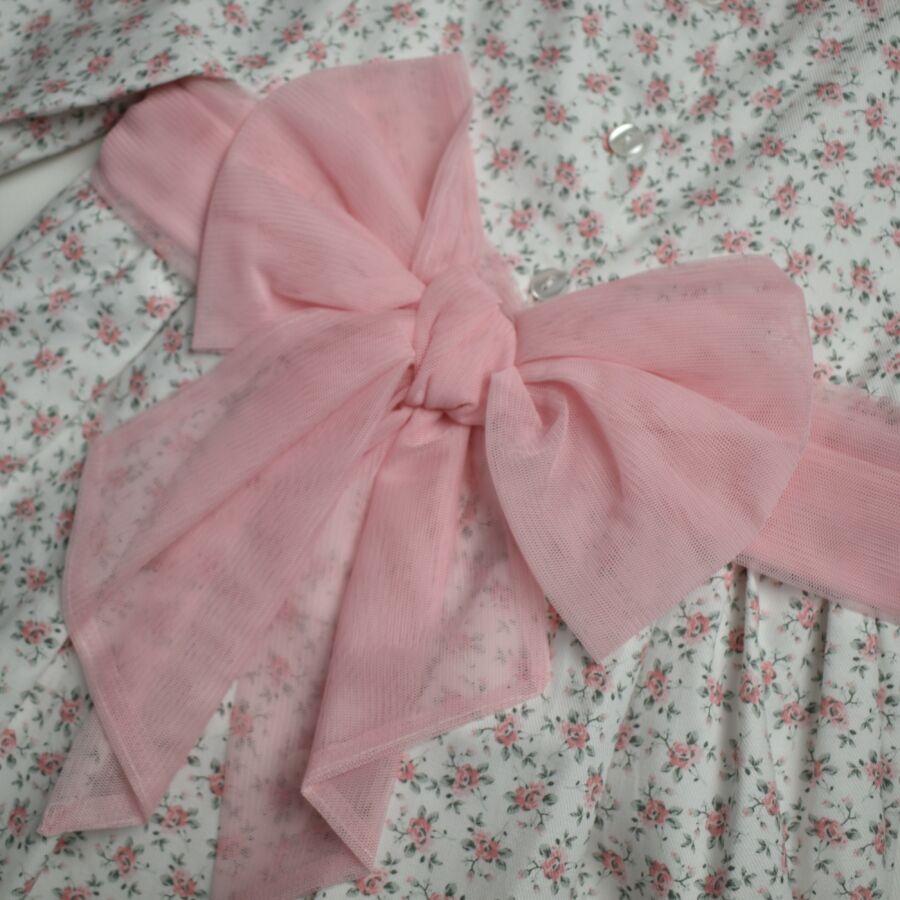 MAYANITA rózsaszin virágos  ruha