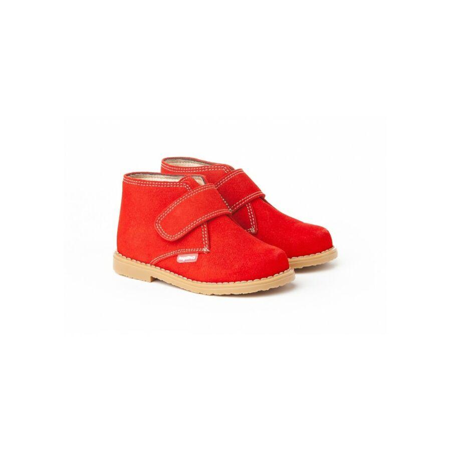 ANGELITOS piros nyersbőr tépőzáras lány cipő