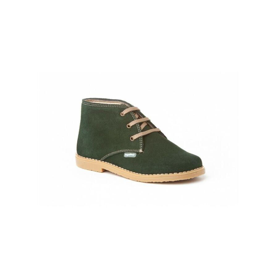 ANGELITOS zöld nyersbőr fűzős lány cipő